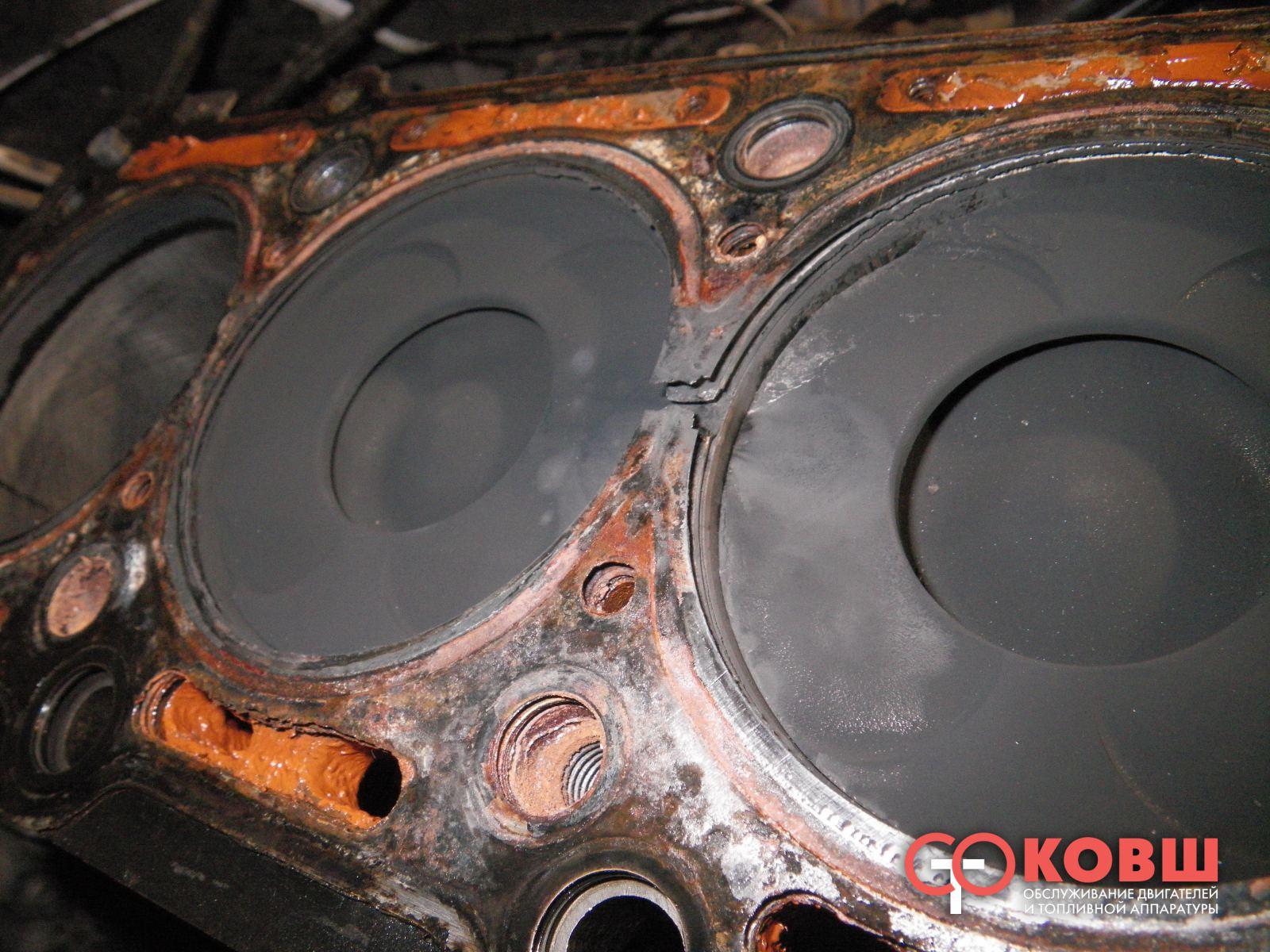 Прокладка между двигателем и головкой